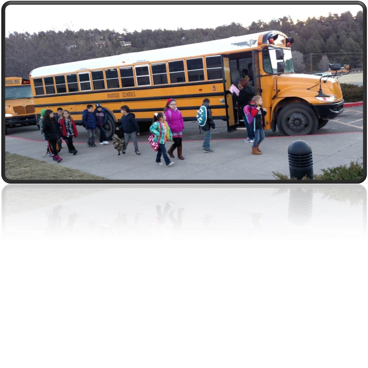 Students getting off the bus to start another great day at SVP!