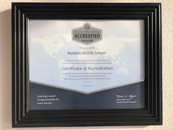 RMS is AdvanED Accredited