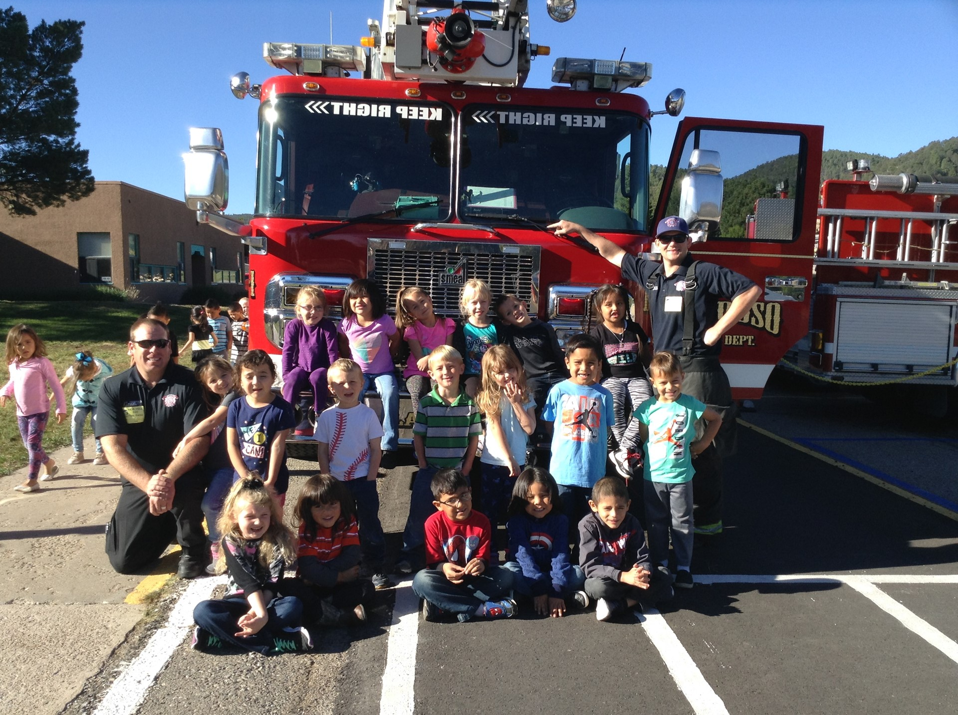 Visit From Ruidoso Firefighters