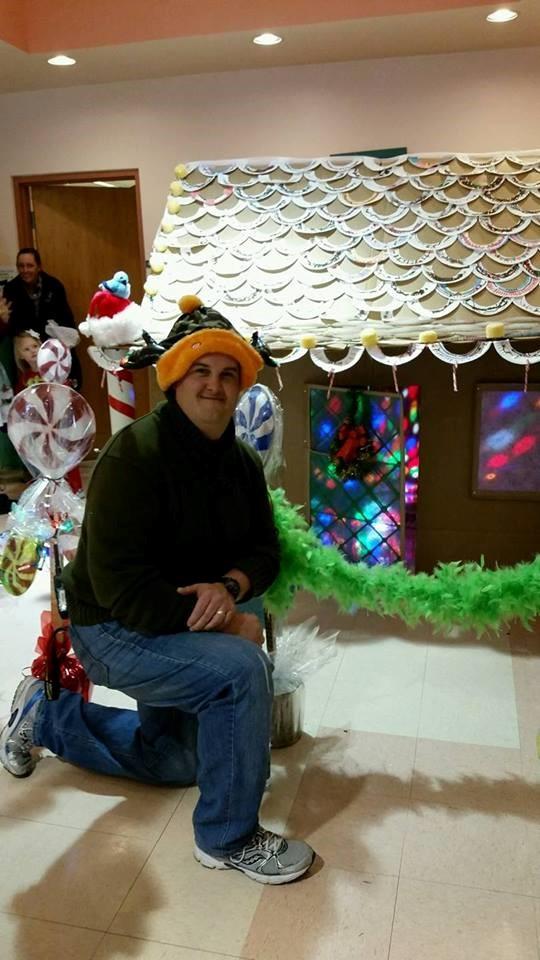 Mr. Green at Morning With Santa Fundraiser