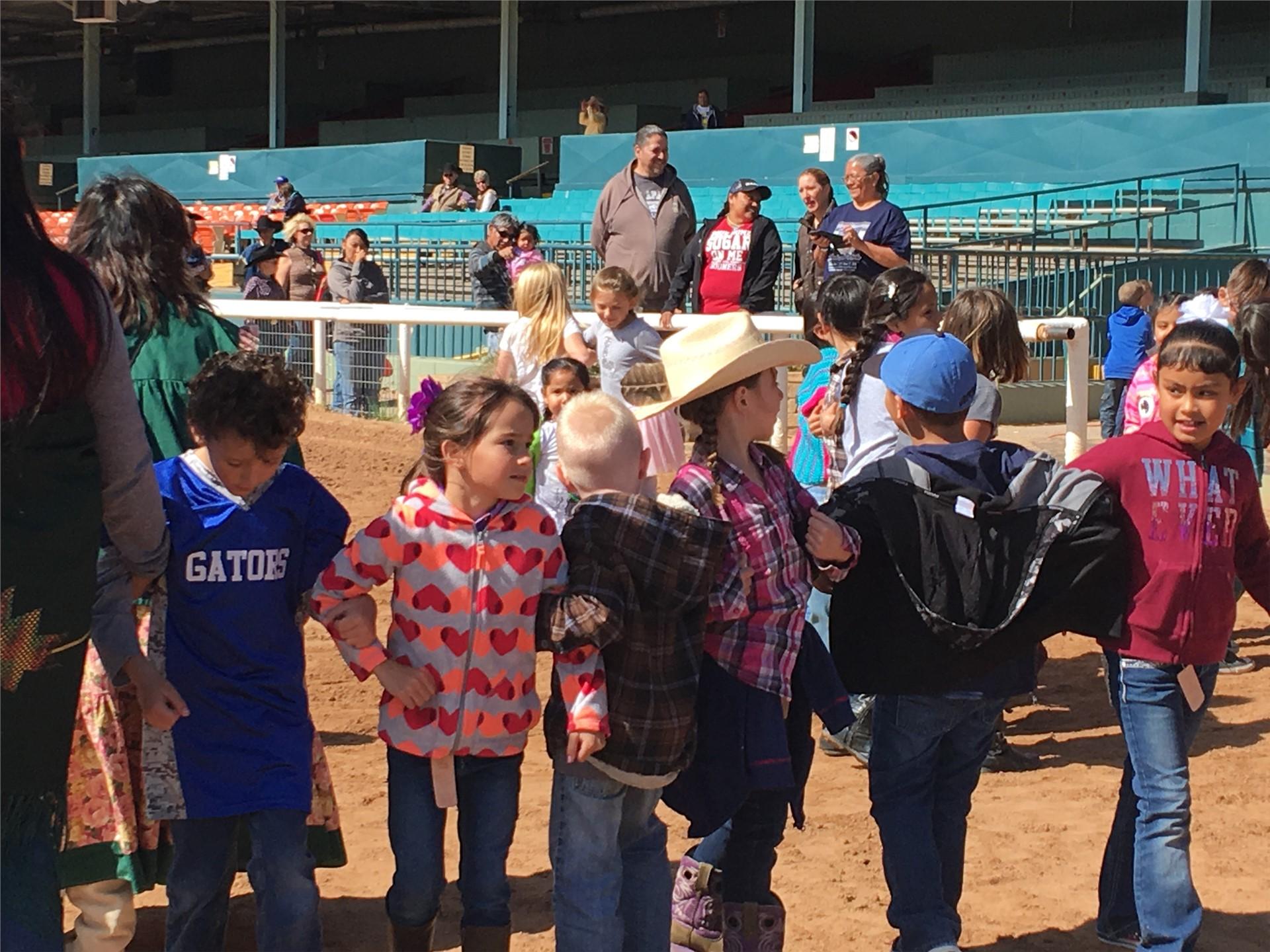 Second Grade Students enjoying the Cowboy Symposium