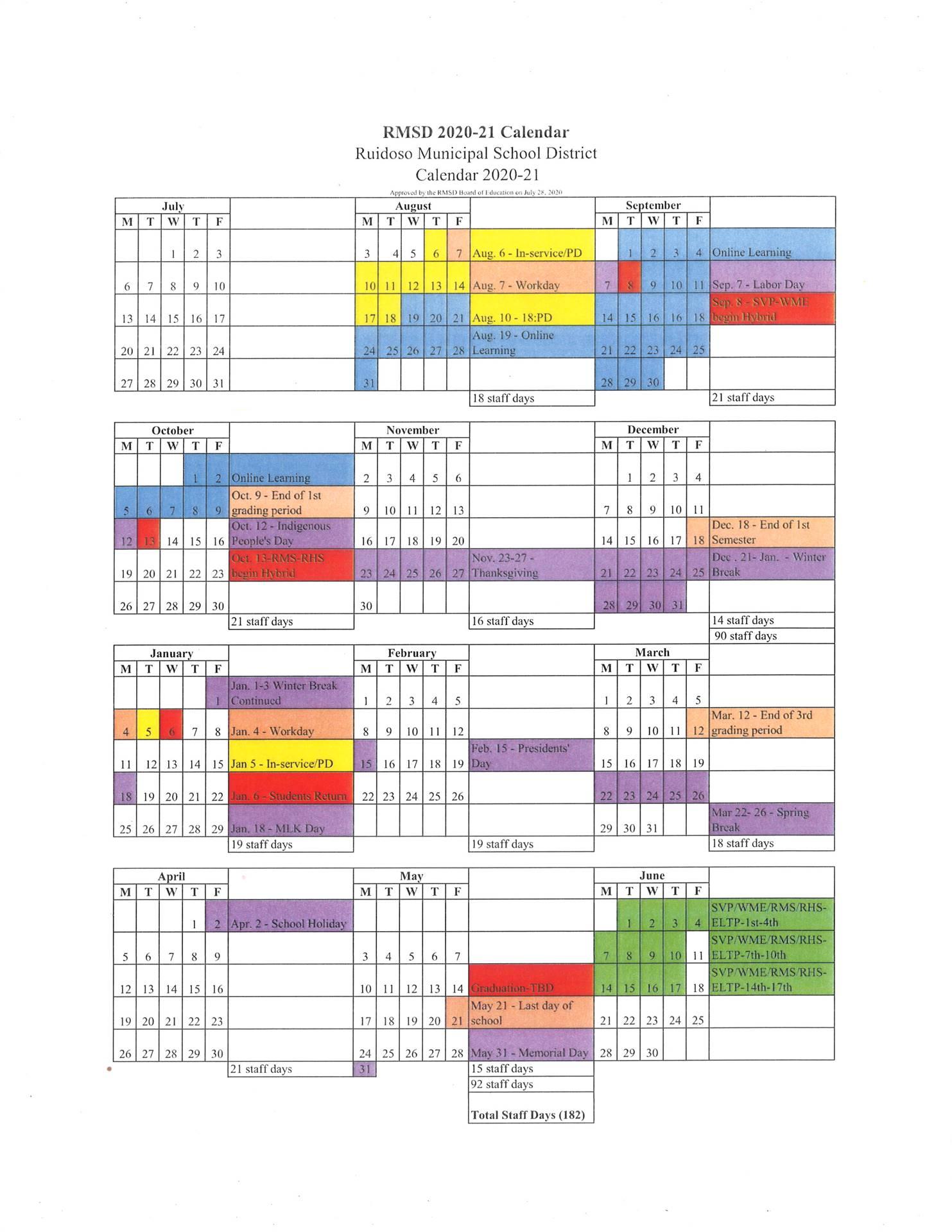 2020-21 RMSD Calendar